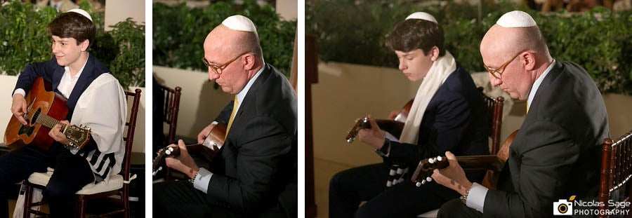 Father and son bar mitzvah