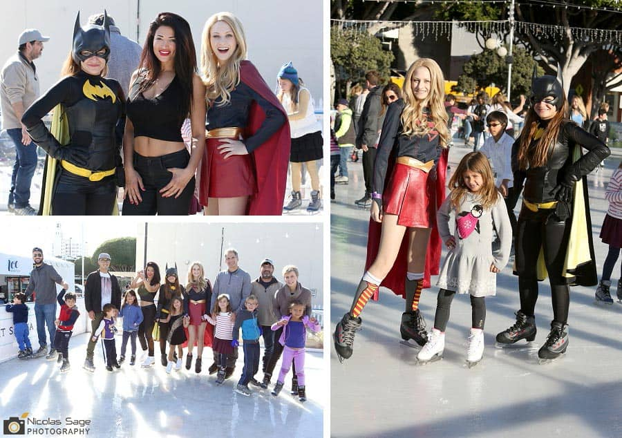 superhero ice skating birthday party