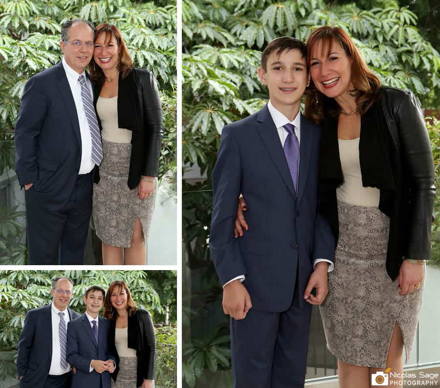 Bar Mitzvah family portraits