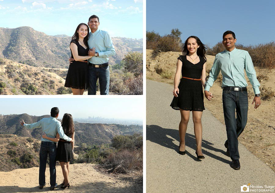 Hollywood engagement photography