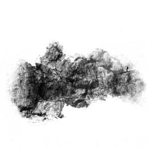 Paysages imaginés, technique mixte, 60x60 cm