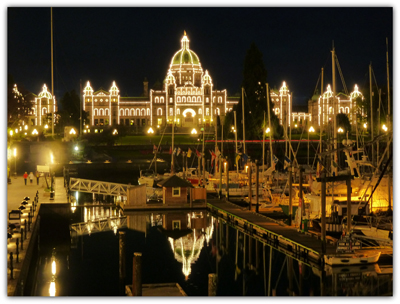 BC Parliament Buildings, Victoria Harbor