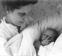My mother and me, 4 days old