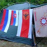 zátišie v tábore pri osade Pograničnoe