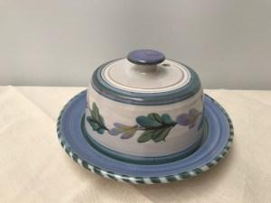 butterdish Bluegreen and lilac freesia pattern