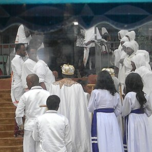 An eritrean orthodox church service