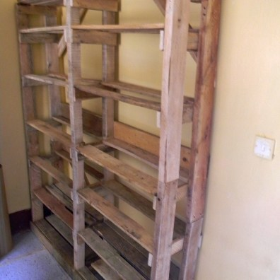 rustic storage shelf