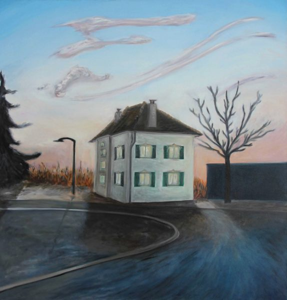 House at the End of the Road (2015) Oil on Canvas, 110x120 cm