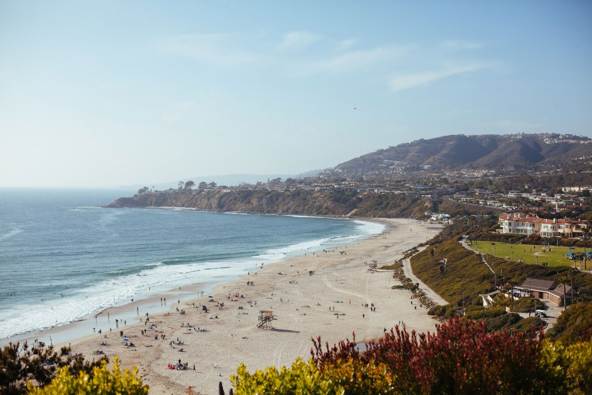 view from wedding ceremony site ritz carlton laguna niguel