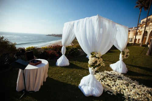 wedding ceremony detail ritz carlton resort laguna niguel