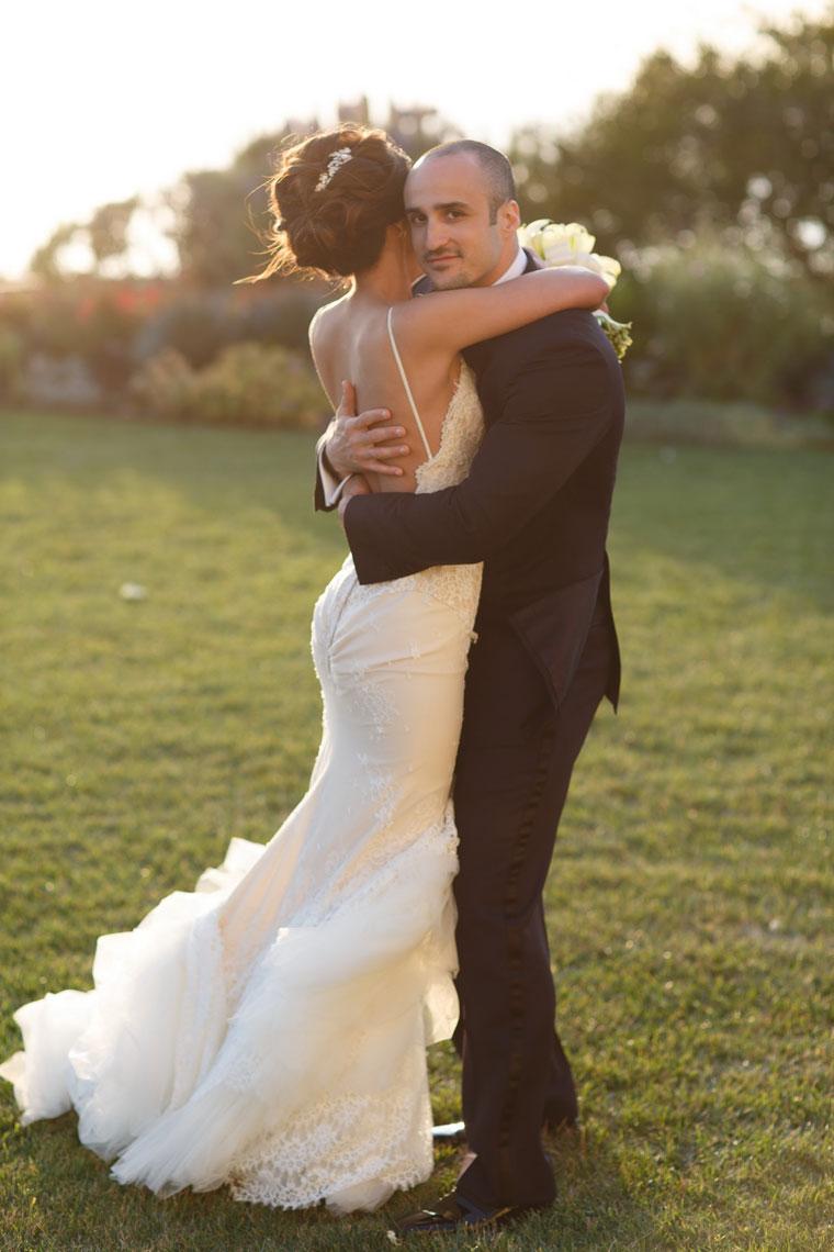 bride and groom sunset wedding laguna niguel ritz carlton