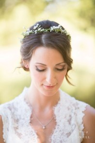 temecula creek inn wedding stone house bride with flower crown