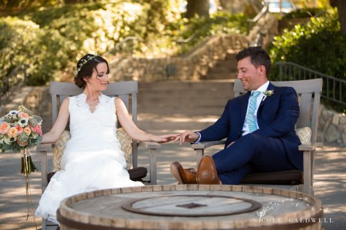 temecula creek inn wedding stone house bride and groom
