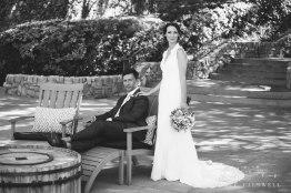 temecula creek inn wedding stone house bride and groom