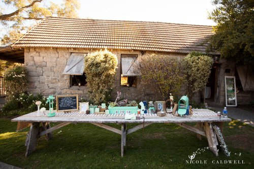 reception table temecula creek inn wedding stone house bride