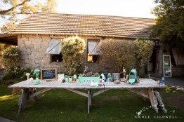 reception table temecula creek inn wedding stone house bride