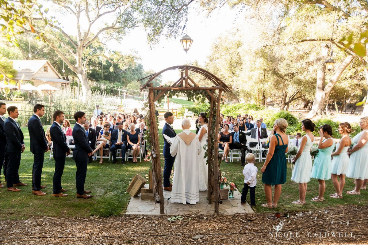 ceremony temecula creek inn wedding stone house bride