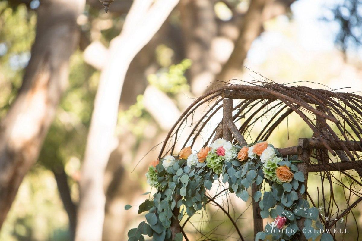 flowers ceremony temecula creek inn wedding stone house bride