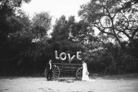 bride and groom love sign temecula wedding photographer
