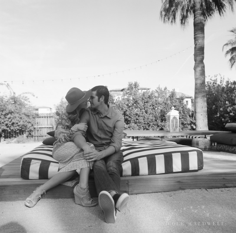 engagement session Korakia Pensione in Palm Springs  by Nicole Caldwell film photographer