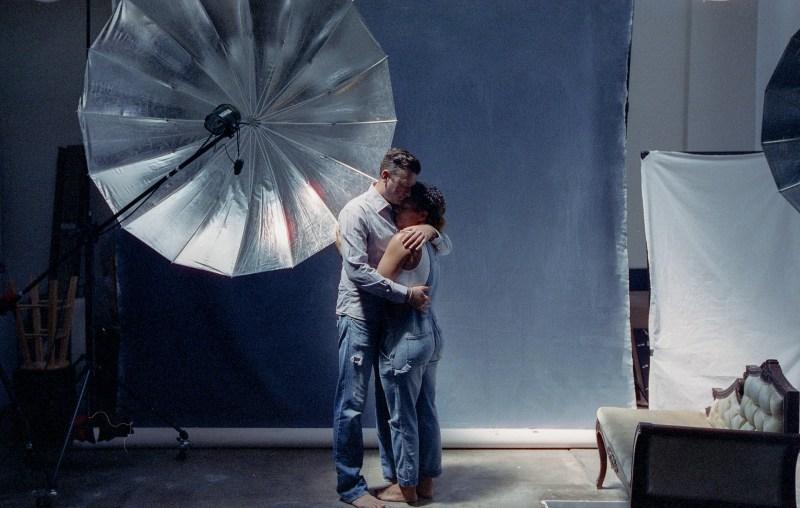 cinestill film engage,ent session in studio nicole caldwell 02