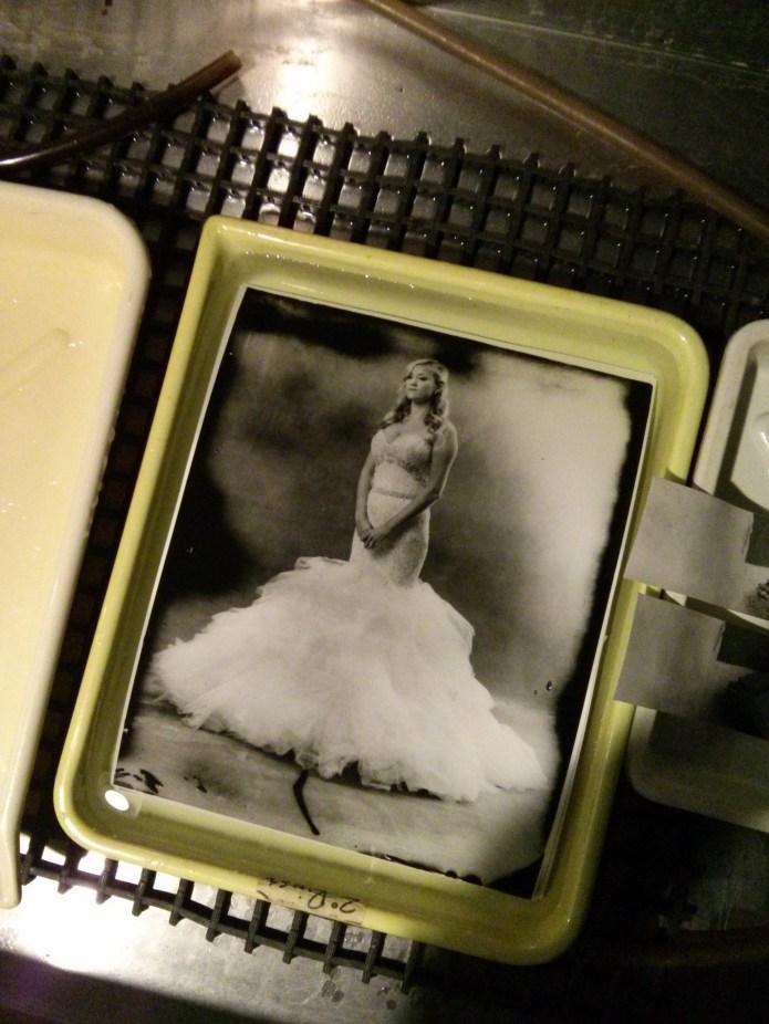 type 55 film darkroom print