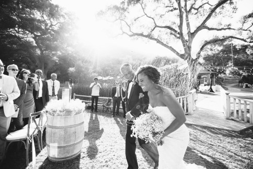 temecula creek inn weddings stonehouse ceremony bride walking down aisle