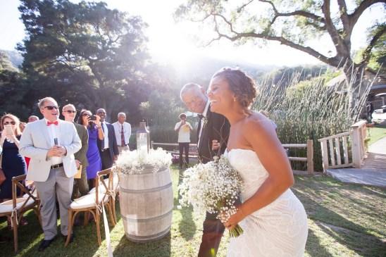 temecula creek inn weddings stonehouse ceremony brid walking down aisle