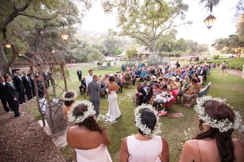 temecula creek inn weddings stonehouse ceremony view