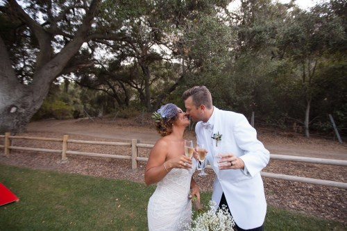 temecula creek inn weddings stonehouse ceremony bride and groom champagne