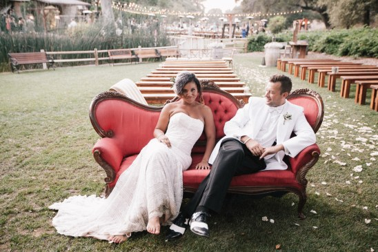 temecula creek inn weddings stonehouse ceremony bride and groom on couch
