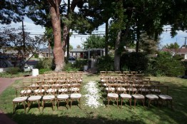 French Estate wedding photographer orange ceremony site