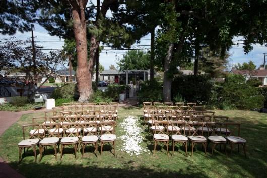 French Estate wedding photographer orange ceremony site