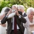 French Estate wedding photographer orange grandpa taking phtos