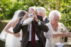 French Estate wedding photographer orange grandpa taking phtos