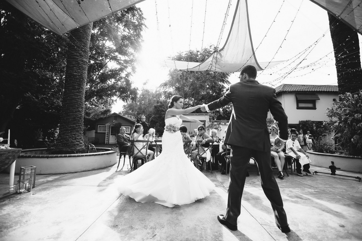 French estate wedding photographer orange reception first dance