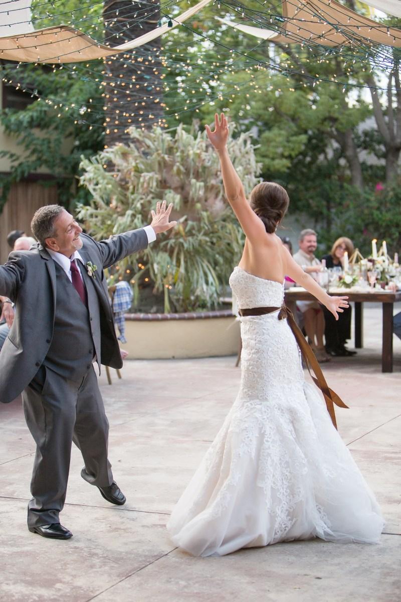 French estate wedding photographer orange reception father daughter dance