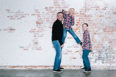 family photography ideas in the studio nicole caldwell brick backdrop 16