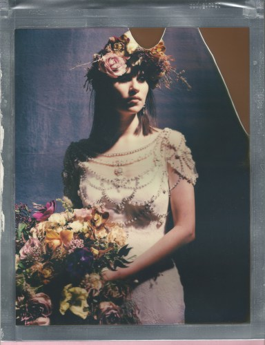 8 x 10 polaroid color impossible film nicole caldwell bridal portrait
