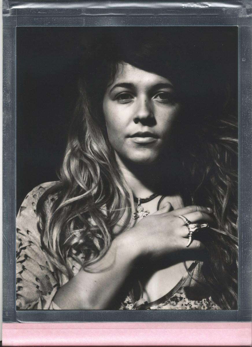 8 x 10 polaroid film impossible black and white woman in photo studio