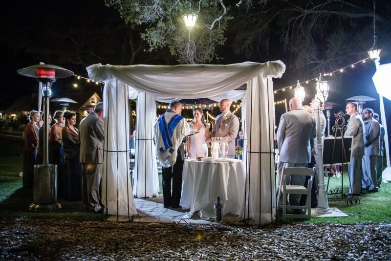 temecula creek inn weddings nightime ceremony jewish 47