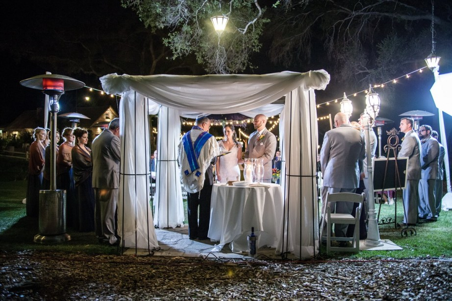 temecula creek inn weddings nightime ceremony jewish 47