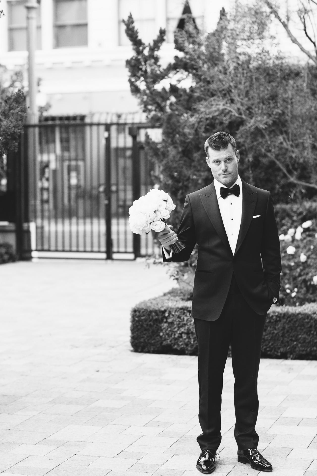 groom vibiana wedding