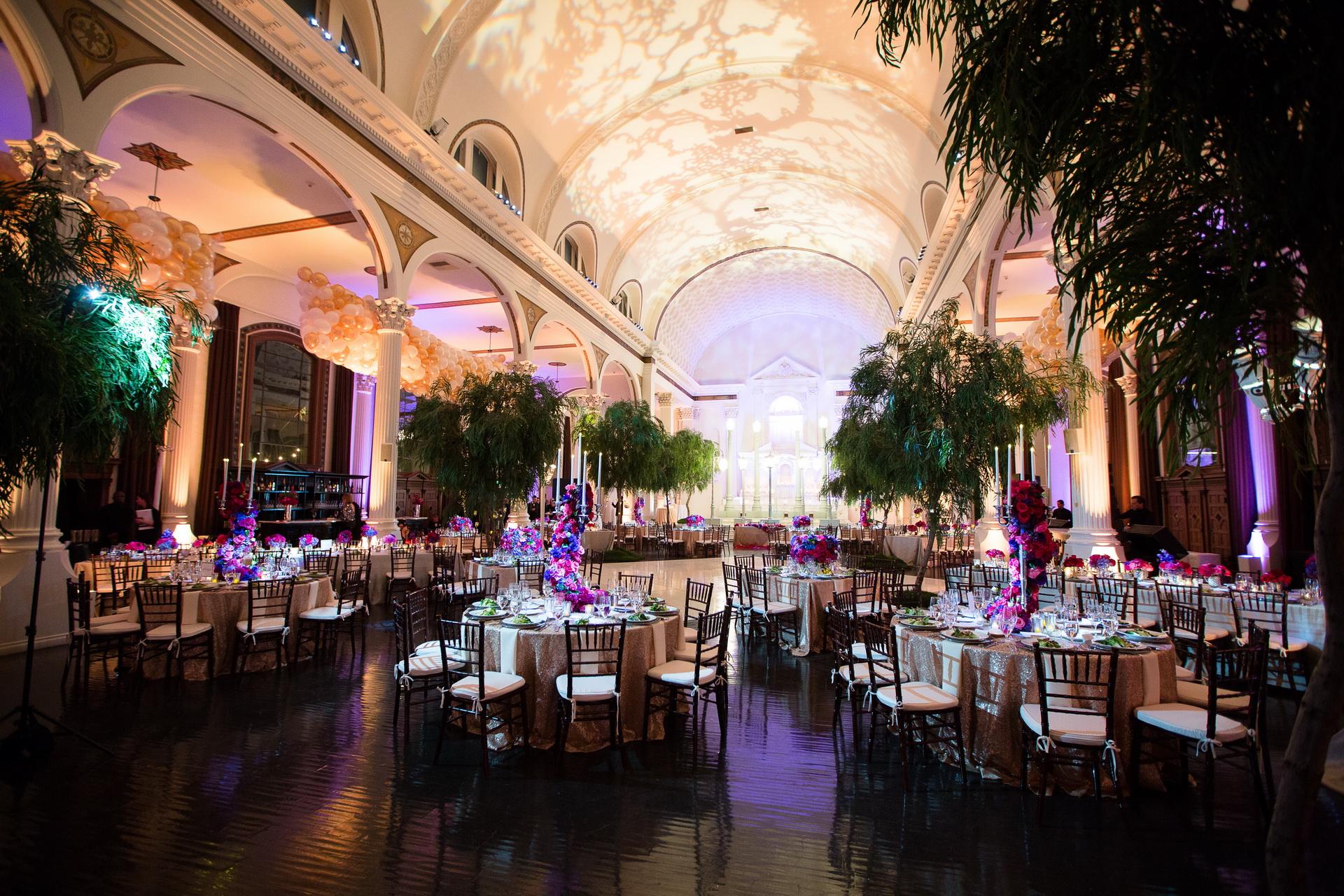 vibiana weddings receptrion room decor