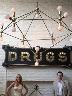 palm springs wedding photographer parker couple drugs sign