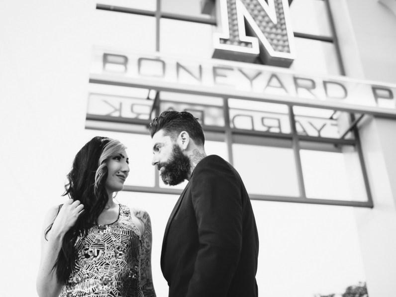 las vegas engagement shoot neon museum boneyard by nicole caldwell 13