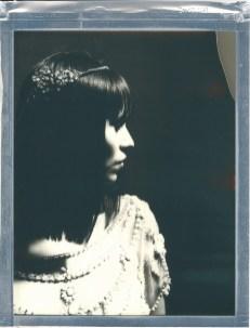 8 x 10 polaroid impossible film bride in studio