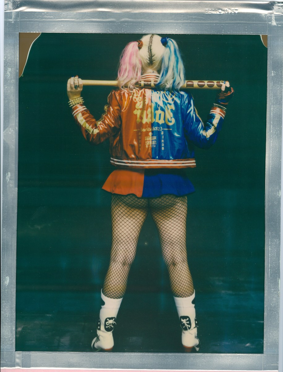 8 x 10 impossible color 8 x 10 film polaroid cosplay harley quinn back