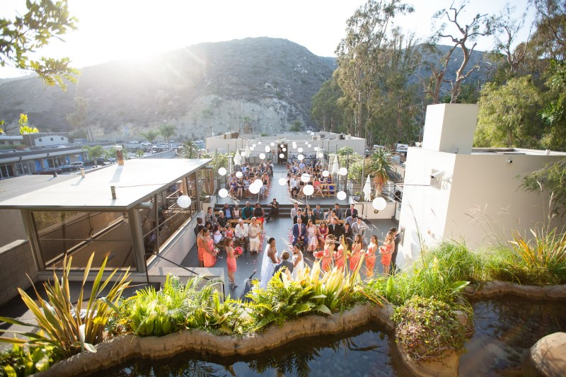 wedding ceremony view seven degrees laguna beach