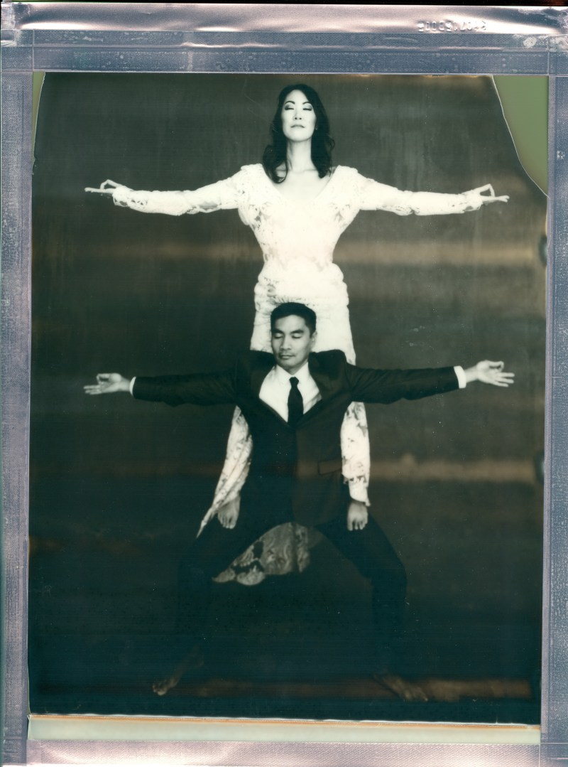 yoga couple wedding polaroid 8 x 10 impossible project photo by Nicole Caldwell 04